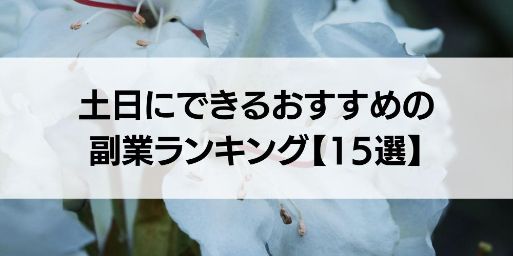 土日にできるおすすめの副業ランキング【15選】