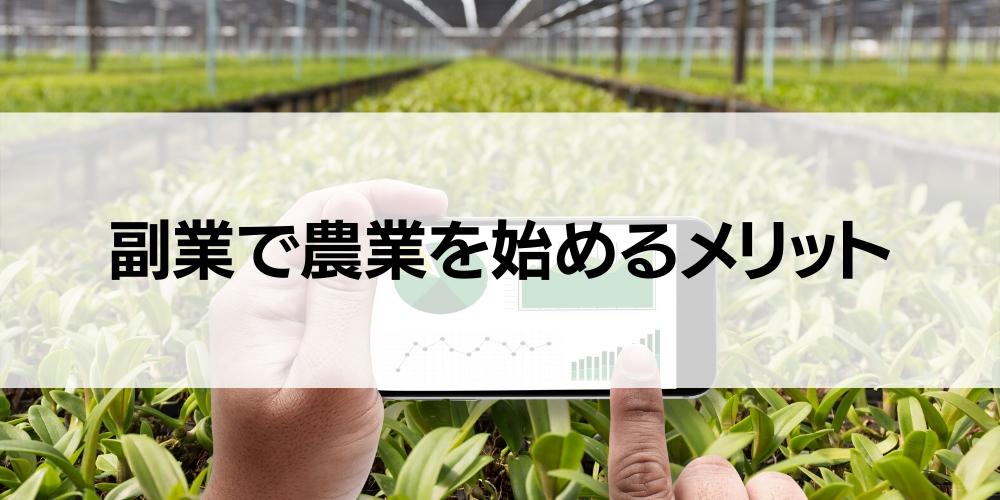 副業で農業を始めるメリット